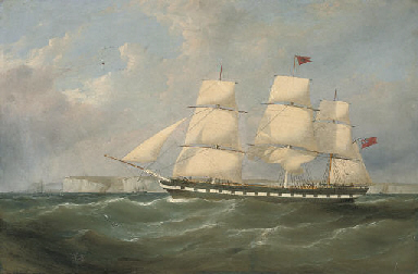 An outward-bound merchantman h