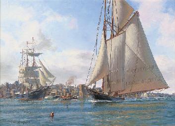 The famous schooner yacht Amer
