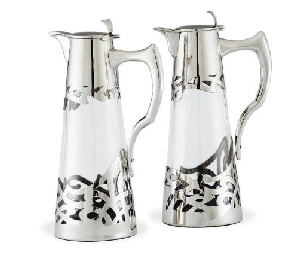 A PAIR OF AUSTRIAN SILVER-MOUN