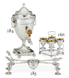 A GEORGE III SILVER EGG STAND