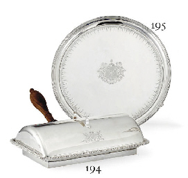 A GEORGE III SILVER BACON DISH