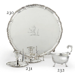 A GEORGE II SILVER SAUCEBOAT