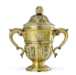 A GEORGE II SILVER-GILT CUP AN