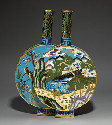 AN UNUSUAL CLOISONNÉ ENAMEL DO
