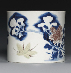 AN UNDERGLAZE-BLUE, COPPER-RED