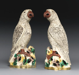 A PAIR OF UNUSUAL ORMOLU-MOUNT