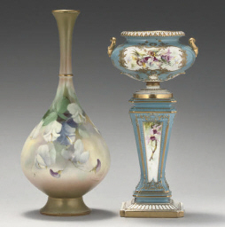 TWO ROYAL WORCESTER VASES