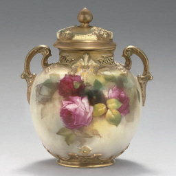 A ROYAL WORCESTER GLOBULAR VAS