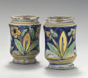 TWO ITALIAN MAIOLICA SMALL ALB