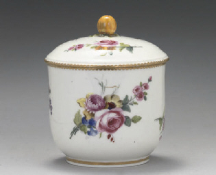 A SEVRES SUCRIER AND COVER