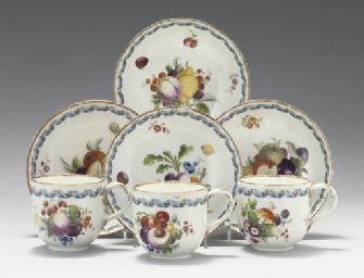 THREE MEISSEN (MARCOLINI) COFF