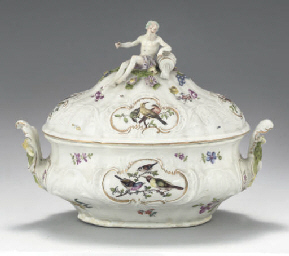 A MEISSEN 'DULONG' TWO-HANDLED