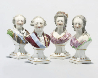 A SET OF FOUR SEVRES-STYLE POR