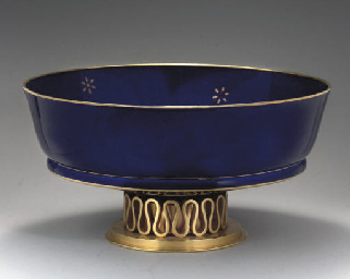 A SEVRES ORMOLU-MOUNTED DARK-B
