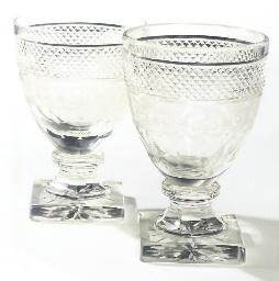 A PAIR OF CUT AND ENGRAVED RUM