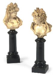 A PAIR OF FRENCH CARVED IVORY