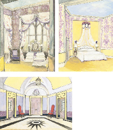 Three designs for the interior