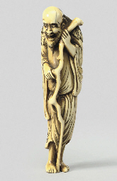 An ivory figure of a Sennin, 1