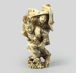 An ivory study of Omori Hikohi