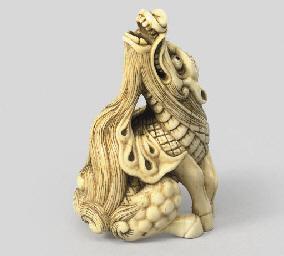 An ivory study of a kirin, 19t