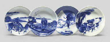 Nine blue and white dishes, Me