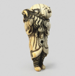 An ivory model of a karako, 18