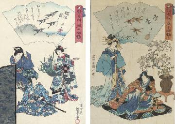 KUNISADA (1786-1865) AND HIROS