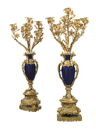 A PAIR OF FRENCH ORMOLU AND CO