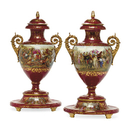 A PAIR OF ORMOLU-MOUNTED VIENN