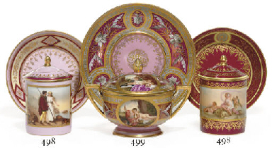 TWO VIENNA STYLE PINK OR CLARE