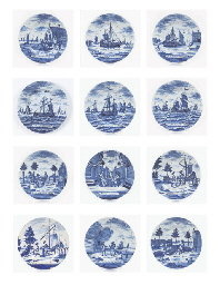 A series of eleven Dutch Delft