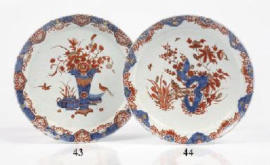 A Delft doré chinoiserie panca