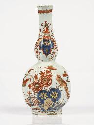 A Delft doré chinoiserie onion