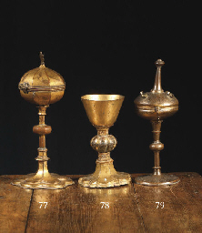 A Gilt copper chalice