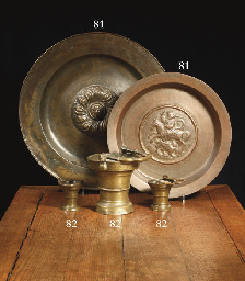 A large brass holy water bucke