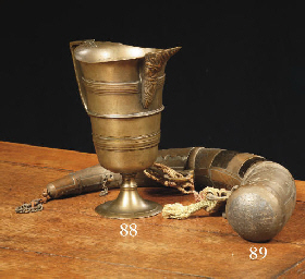 A brass flagon