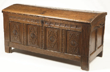 A Dutch oak chest