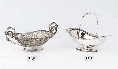 A German silver filigree cake-