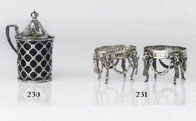 A rare pair of Dutch silver sa