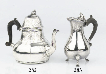 An early Dutch silver teapot