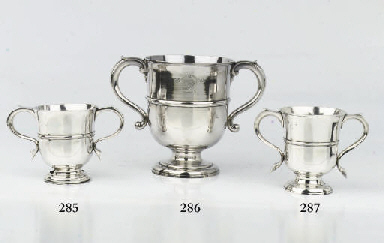 A large English silver cup
