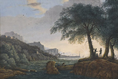 A view of Pozzuoli near Naples
