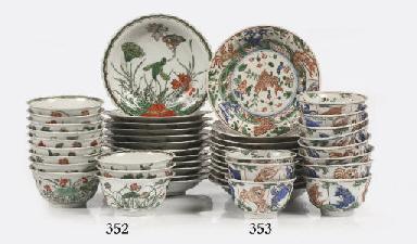 A set of eleven famille verte
