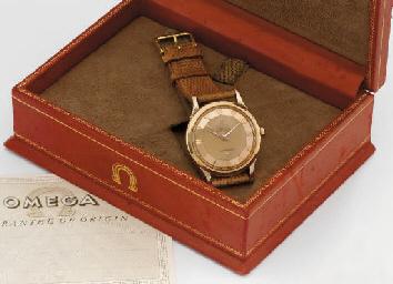 Omega. A fine 18K pink gold se
