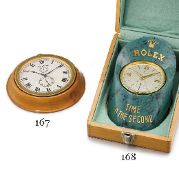 Rolex. A gilt brass and painte