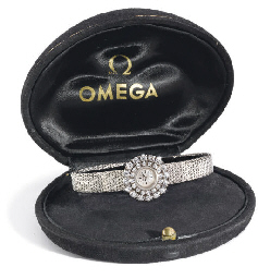 Omega. An 18K white gold & dia