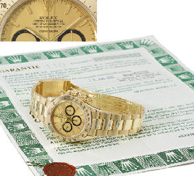 Rolex. An 18K gold water-resis