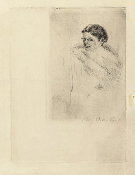 Mrs. Cassatt Sewing (B. 44)