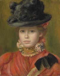 Jeune fille au chapeau noir à