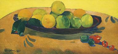 Nature morte aux fruits et pim